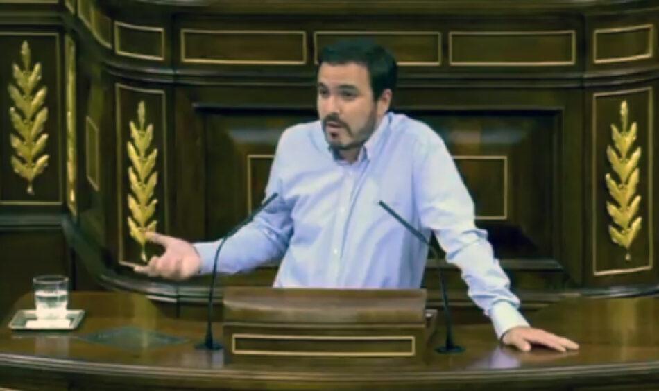 Garzón exige a Montoro en pleno debate de Presupuestos la dimisión de su 'número dos' en Hacienda, Fernández de Moya, tras ser citado como investigado por cinco delitos graves