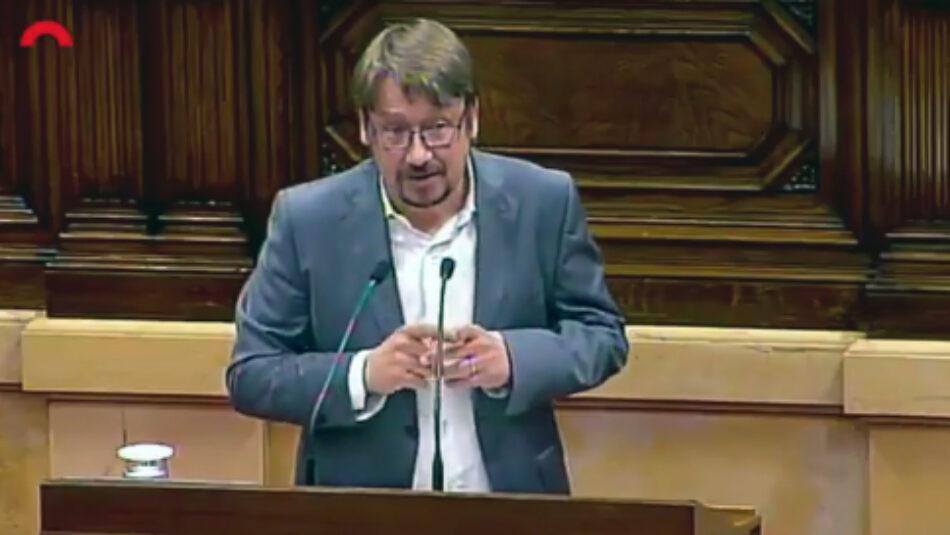 """Xavier Domènech: """"A partir d'avui som l'única força progressista que queda al Parlament"""""""