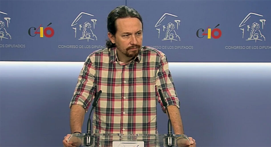 Pablo Iglesias pide al PSOE una moción de censura tras conocerse la sentencia judicial del «Caso Gürtel»