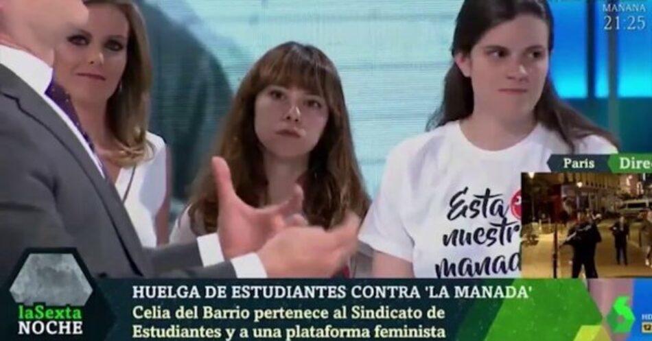 Agresión machista de Eduardo Inda a las compañeras de Libres y Combativas en el plató de la Sexta Noche