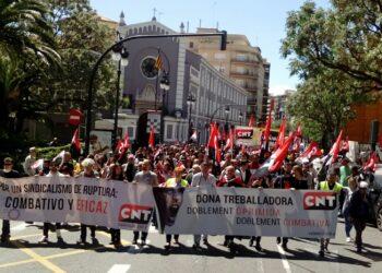 CNT se manifiesta el Primero de Mayo exigiendo Justicia social y laboral