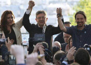 Iglesias y Mélenchon celebran un acto conjunto en Madrid