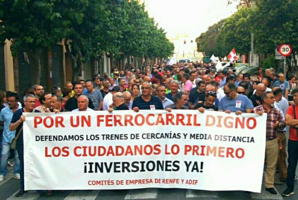 CGT de la Región Murciana, por un ferrocarril público y social