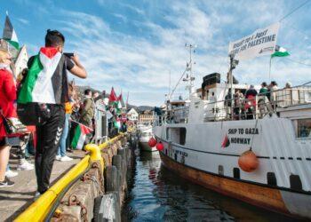 La Flotilla de la Libertad para romper el bloqueo de Gaza llega a Gijón