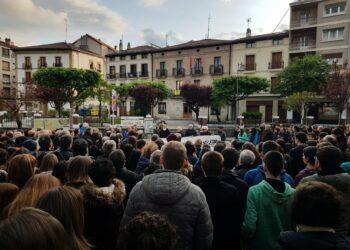 Manifestaciones en Altsasu contra la sentencia de la Audiencia Nacional