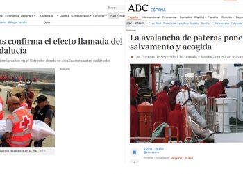 Medios fascistizados: ABC recurre a la falsedad del «efecto llamada»