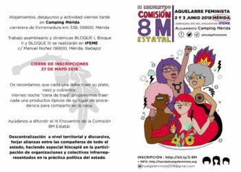 Una delegación de la Plataforma 8M de Toledo asistirá al III encuentro estatal Comisión 8M en Mérida