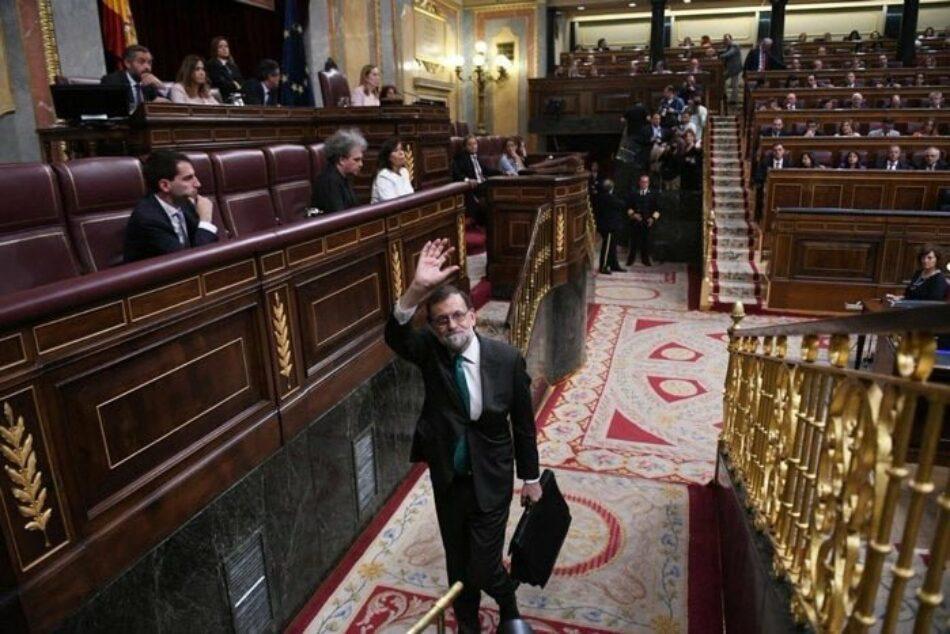 """Garzón puntualiza que Rajoy no se va """"voluntariamente"""", sino que """"le ha echado la movilización social, las sentencias y una moción de censura absolutamente legítima"""""""