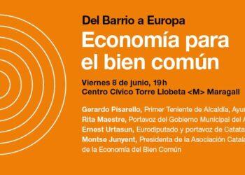 Gerardo Pisarello i Rita Maestre debaten sobre l'economia pel bé comú per  desafiar les polítiques neoliberals europees