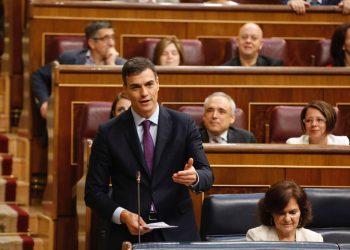 Pedro Sánchez en la sesión de control al Gobierno: «nosostros no estamos a favor de cerrar los CIEs»