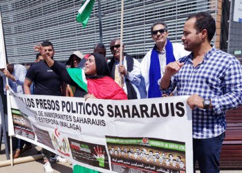 Colectivos saharauis protestan en Bruselas contra la colaboración de la UE con la ocupación marroquí