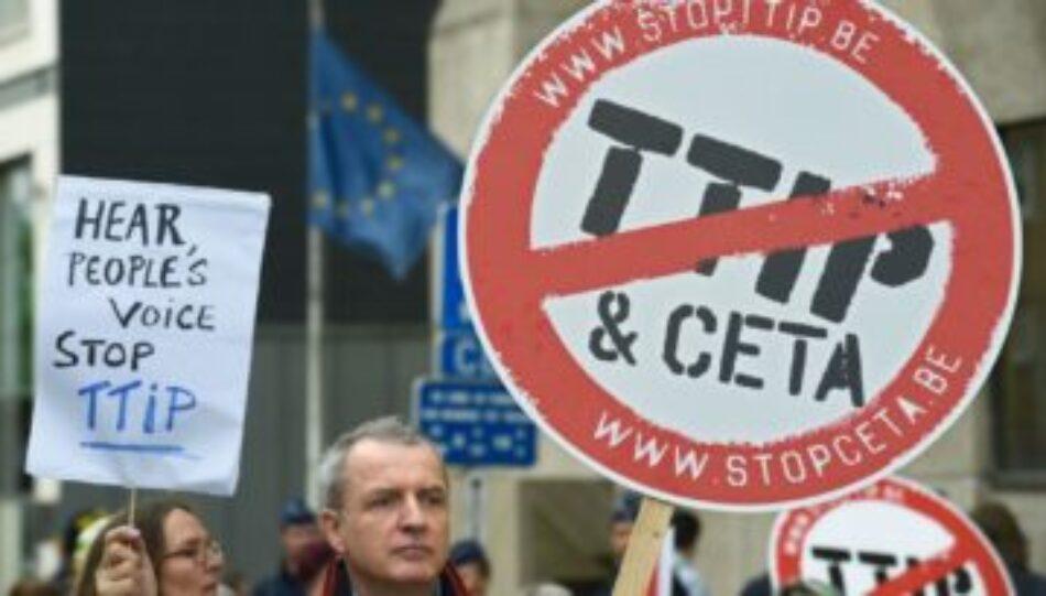 Presentación pública de la campaña 'No a los tratados de comercio e inversión'