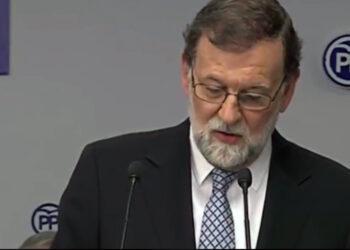 Mariano Rajoy dimite sin reconocer la corrupción y esbozando una dura oposición: «es lo mejor para mi y para el PP, o dicho de otra forma, es lo mejor para el PP y para mi»