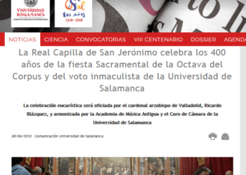 UNI Laica denuncia el triunfo del confesionalismo en la Universidad de Salamanca