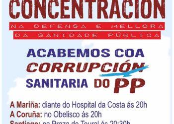 Esquerda Unida súmase e chama a participar nas concentracións convocadas por SOS Sanidade Pública para hoxe 13 de xuño