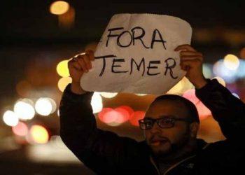 Temer es el presidente más impopular en la historia de Brasil