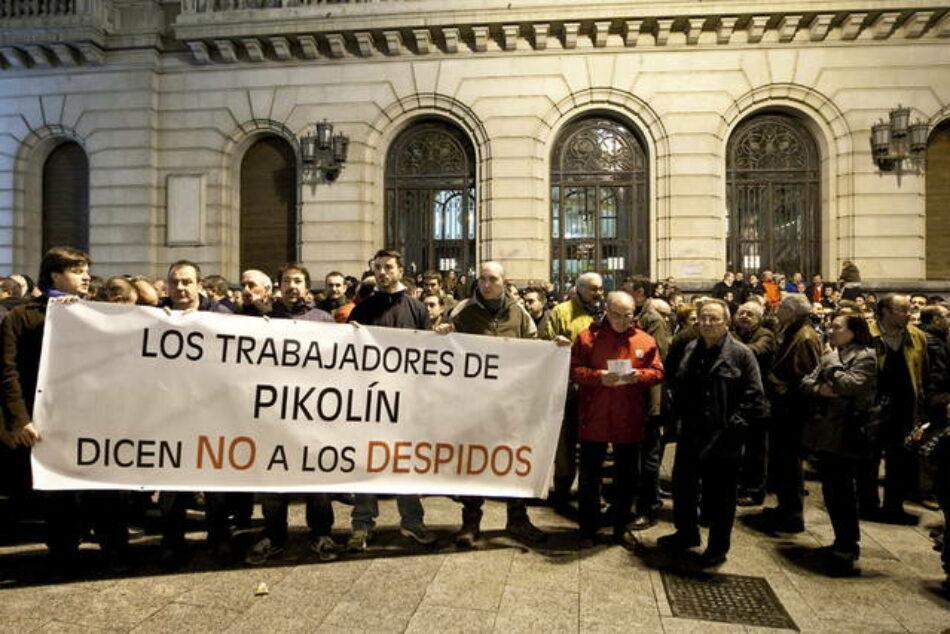 El PCE y la UJCE en apoyo a la plantilla de Pikolin en Aragón