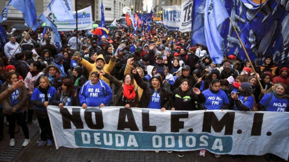 Protestas multitudinarias contra la visita del FMI a Argentina