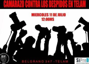 Argentina. #Somos Telam. Camarazo contra los despidos