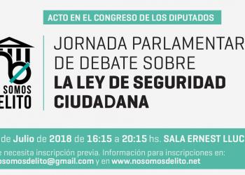 El próximo jueves 5 de julio se celebrará una Jornada Parlamentaria en el Congreso de los Diputados para debatir sobre las reformas de la Ley de Seguridad Ciudadana