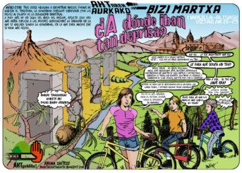 Se inicia este jueves 26 la marcha de bicis contra el TAV entre Marcilla y Alsasua