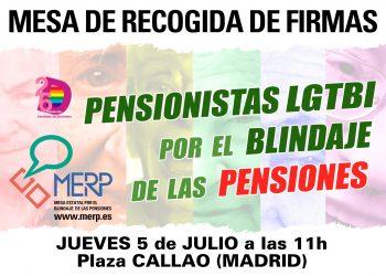 Pensionistas LGTBI  por el blindaje de las Pensiones en la Constitución