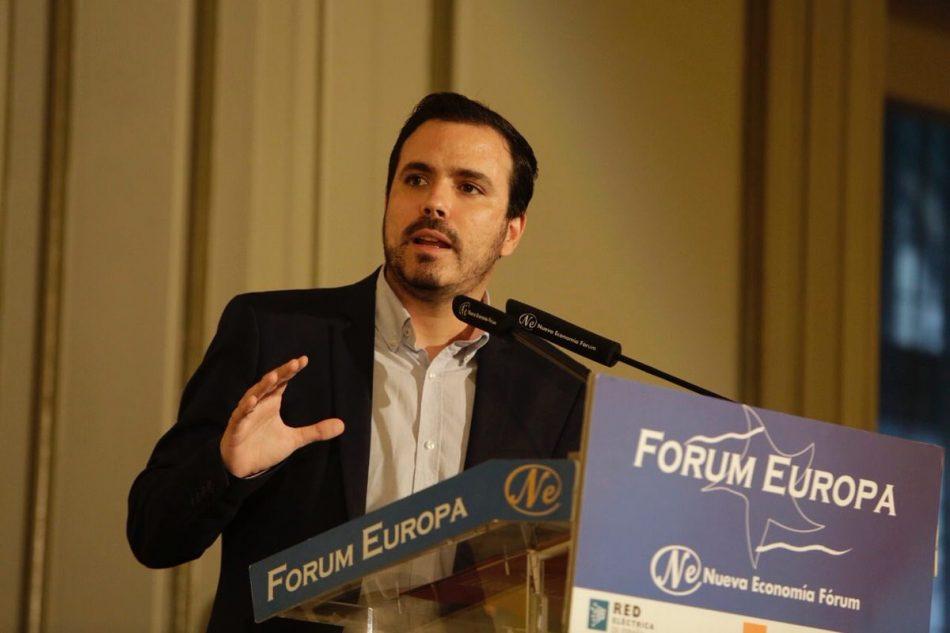 Alberto Garzón adelanta que impulsa la creación de una comisión de investigación en el Congreso sobre los negocios y supuestas prácticas irregulares perpetradas por Juan Carlos de Borbón