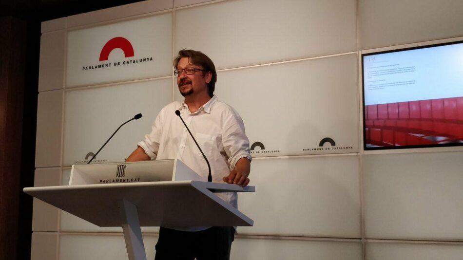 """Domènech: """"Reclamem a Torra que ampliï el diàleg a les forces polítiques i socials de Catalunya"""""""