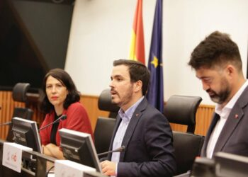 Alberto Garzón: «no hay democracia sin libertad, y no hay posibilidad de que exista la libertad en la pobreza»