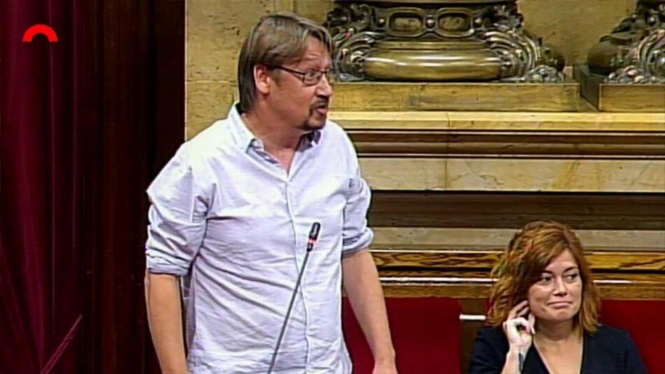"""Domènech lamenta que el Govern hagi """"abandonat"""" la hisenda pròpia i insta Torra a incloure-la a la reunió amb Pedro Sánchez"""