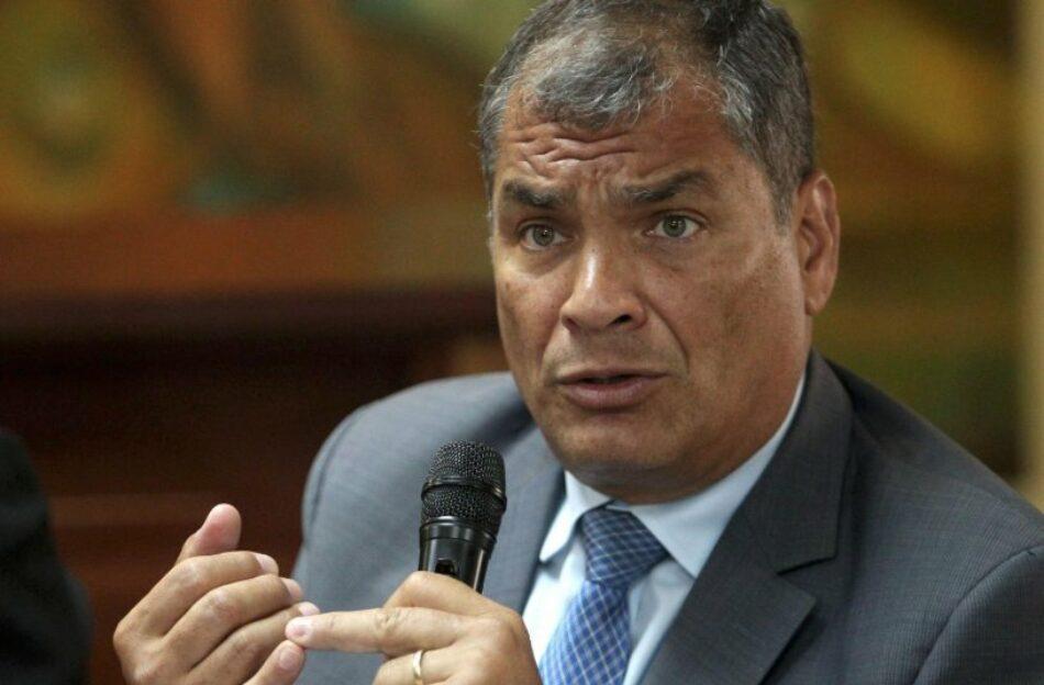 """IU traslada """"toda su solidaridad y respaldo"""" a Rafael Correa y denuncia la """"cacería política"""" desatada contra el ex presidente ecuatoriano"""