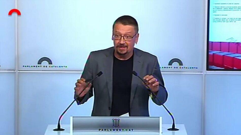 """Xavier Domènech: """"Hem constatat la desorientació absoluta de les forces polítiques que governen aquest país"""""""