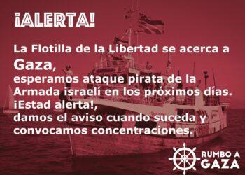 La Flotilla de la Libertad se acerca a Gaza