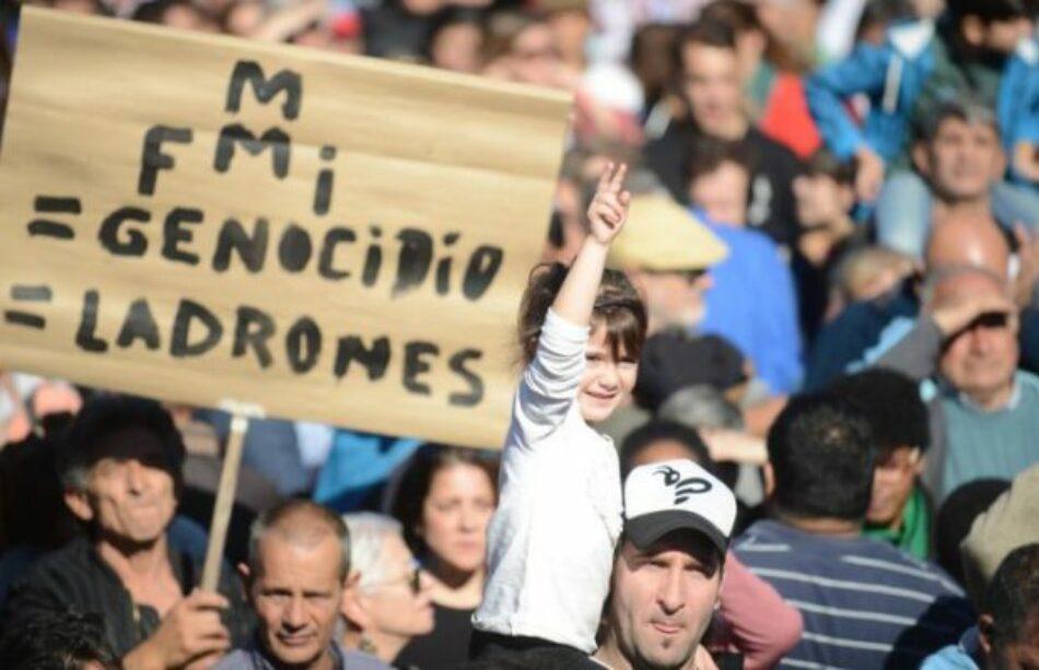 Argentina. Convocatoria en Buenos Aires en repudio al FMI y el G20