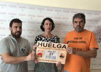 Podemos e IU apoyan la huelga ferroviaria convocada por CGT