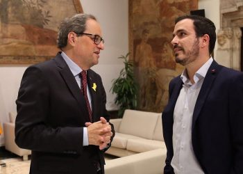 """Garzón traslada a Torra que IU defiende la """"República federal"""" como el mejor modelo para el conjunto del Estado desde el que resolver cualquier disputa territorial"""