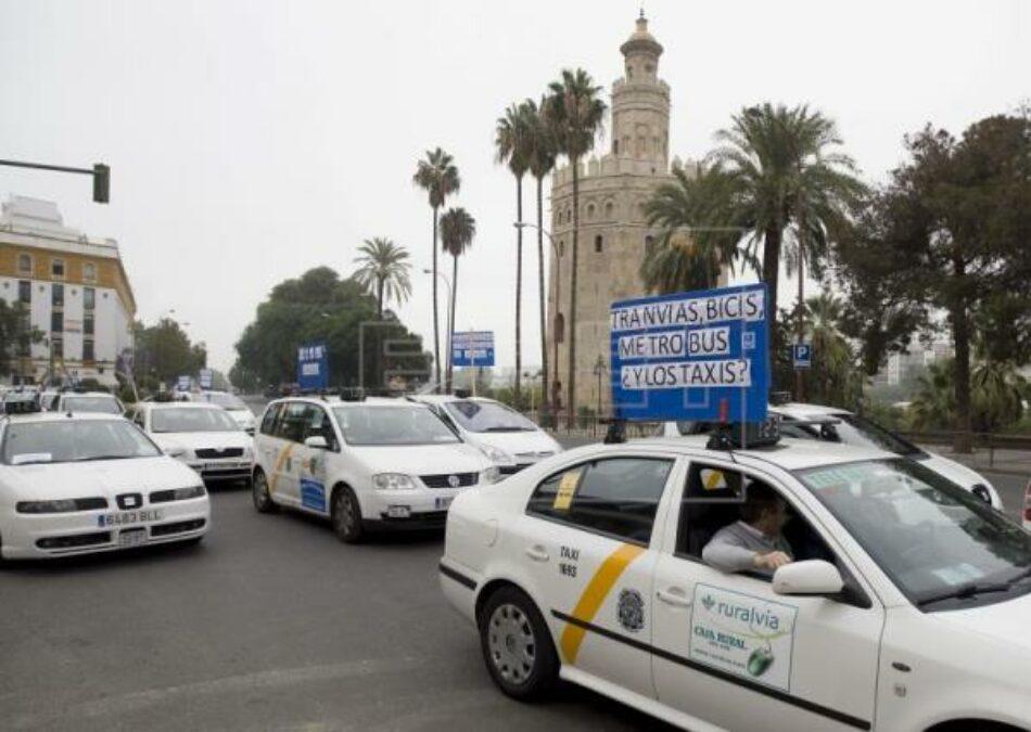 El PCE muestra su total respaldo a la huelga de taxistas en defensa de sus derechos laborales y del servicio público