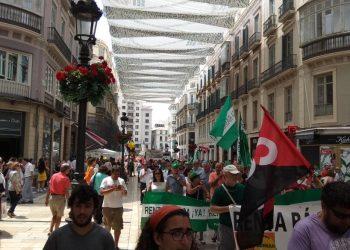 Miles de personas se manifiestan en las Marchas de la Dignidad de Málaga