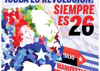 Manifestación en Madrid: «¡Cuba es Revolución! Siempre es 26»