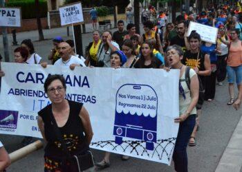 Unas 400 personas se reúnen en Salt para despedir a  la Caravana Abriendo Fronteras 2018