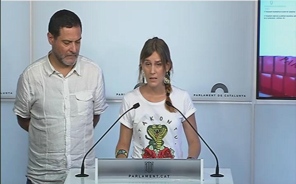 """Els comuns presenten una bateria de propostes perquè la Comissió Bilateral """"sigui útil per la gent, pel diàleg polític i l'autogovern de Catalunya"""""""
