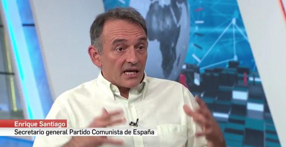 Enrique Santiago: «la inviolabilidad del jefe del Estado no es una carta blanca para cometer delitos»