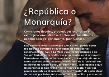 Más de 83 mil personas han firmado una petición por un referéndum «¿República o Monarquía?»