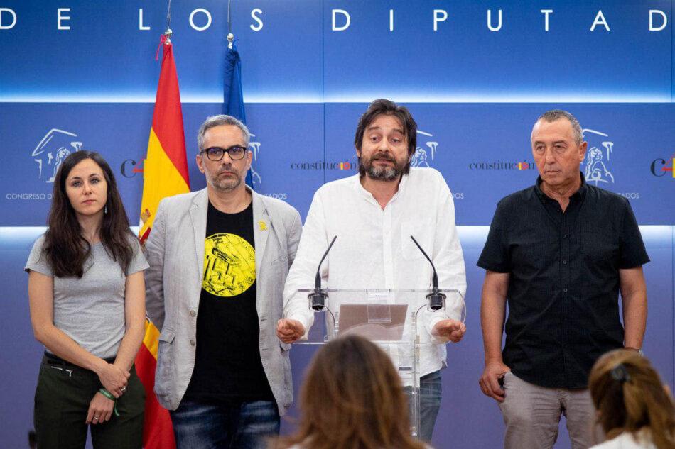 Unidos Podemos registra en el Congreso una comisión de investigación en abierto para esclarecer el escándalo del rey emérito