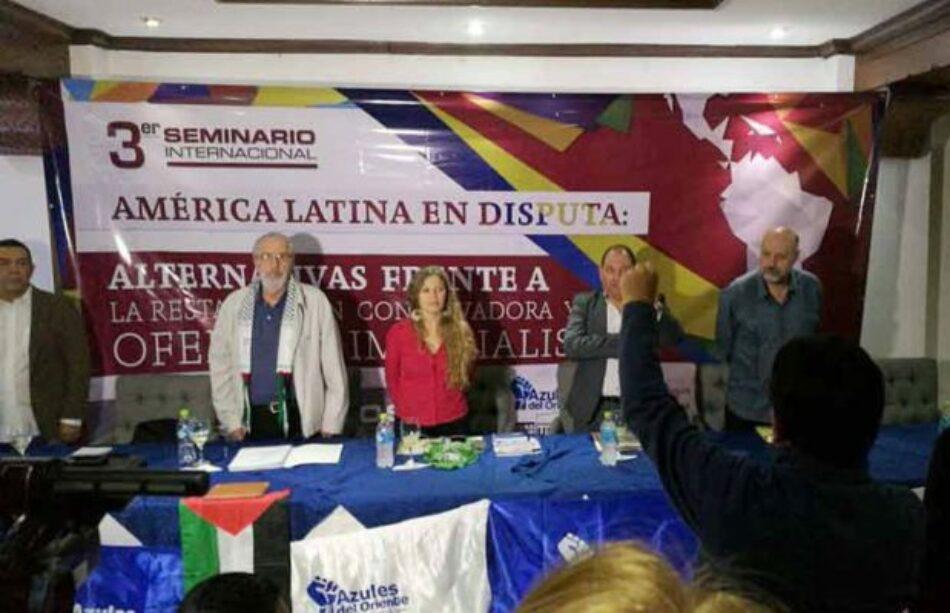 """Bolivia. Debates del Seminario """"América Latina en Disputa"""": el rol de los medios de comunicación"""