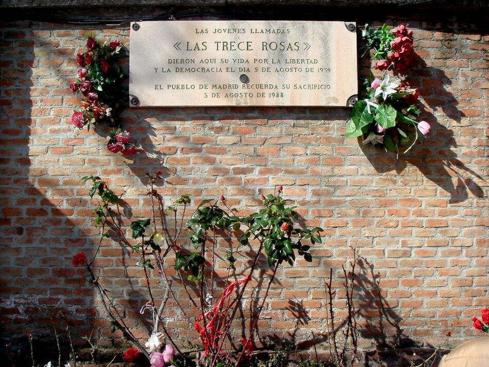 Se cumplen 79 años del fusilamiento de las 13 Rosas