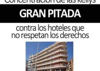 Concentración de las «Kellys» en Benidorm contra los hoteles que no respetan los derechos: por un trato y condiciones laborales dignas