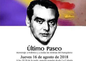 Marcha en recuerdo y homenaje a Federico García Lorca y a los miles de fusilados