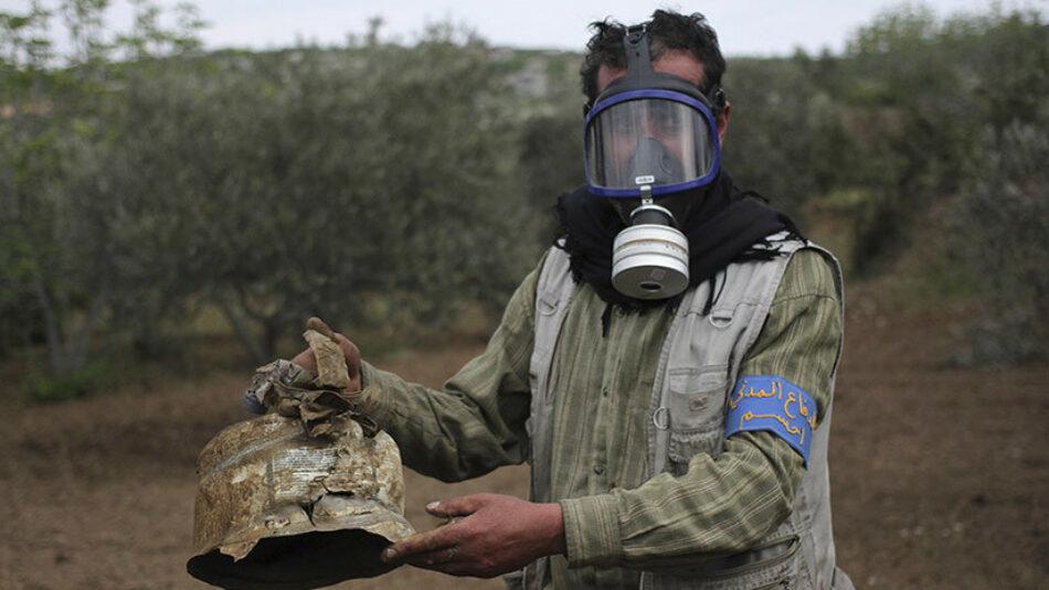 Rusia: «Los Cascos Blancos suministraron sustancias tóxicas a milicianos en Siria para montar ataque químico»