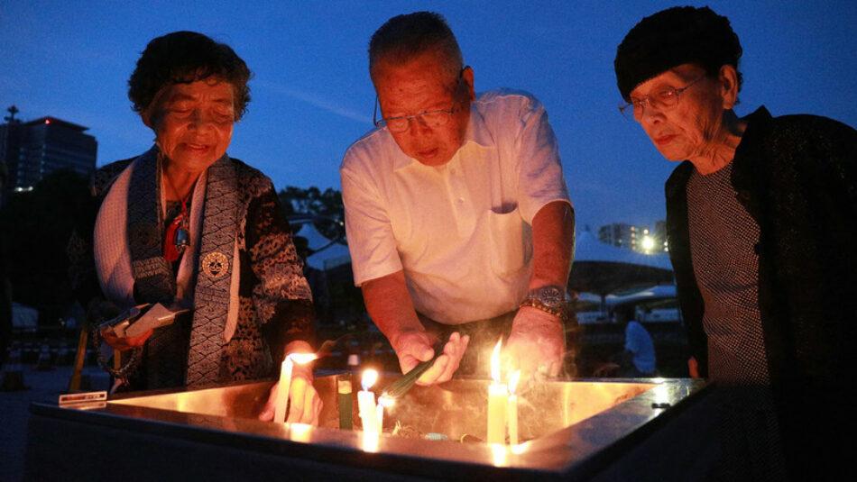 Japón conmemora el 73 aniversario del bombardeo atómico en Hiroshima y a sus víctimas
